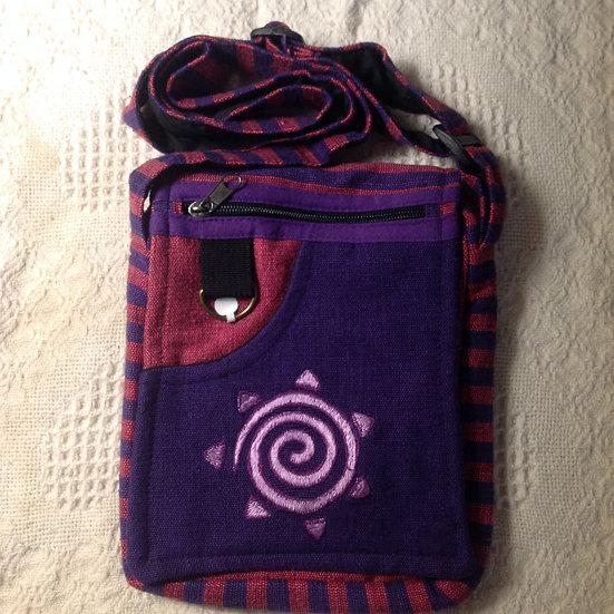 Purple Spiral ShoulderBag