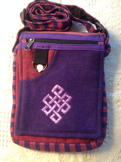 Purple Endless Knot Bag