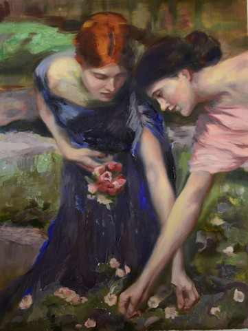 Gathering Flowers after Waterhouse