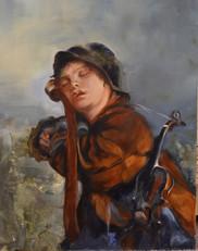 Little Fiddler Asleep