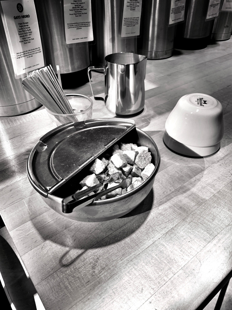 An image from our wonderful tasting at Barrington Coffee Roasters.