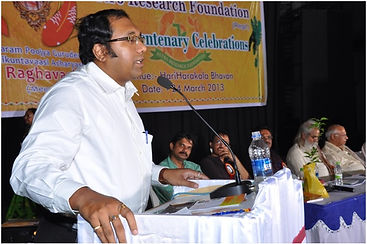 Celebrity Astrologer Dr Andrew giving lecture