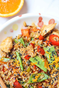 chicken orange stir fry