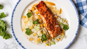 Honey and Lime Glazed Salmon with Pineapple Rice