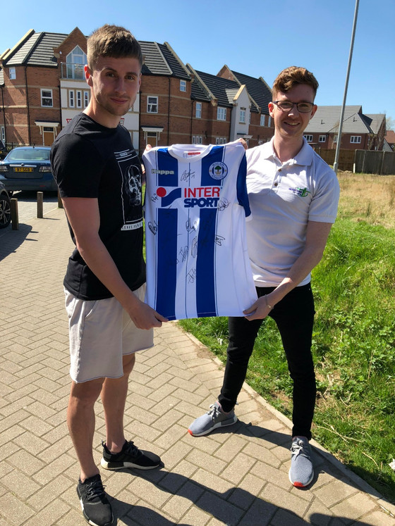 Win a First Team Signed 2017/18 Wigan Athletic Shirt