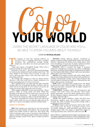 The Secret Language of Color: Color Your World