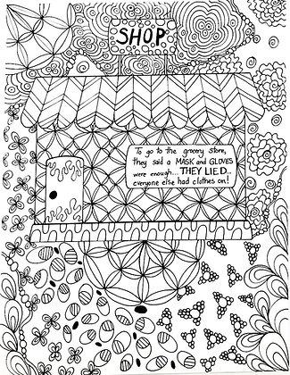 Coronoa Adult Coloring Page
