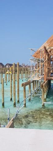 Sea villa construction