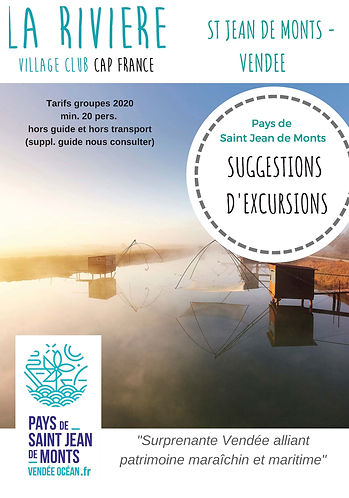 SUGGESTIONS D'EXCURSIONS LA RIVIERE 2020