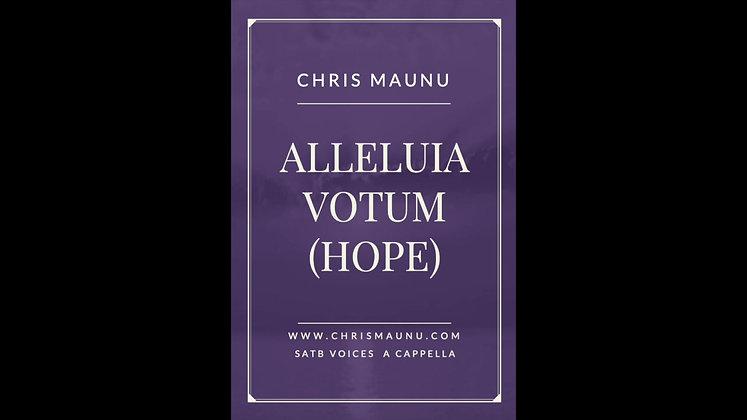 Alleluia Votum (Hope) - SATB a cappella