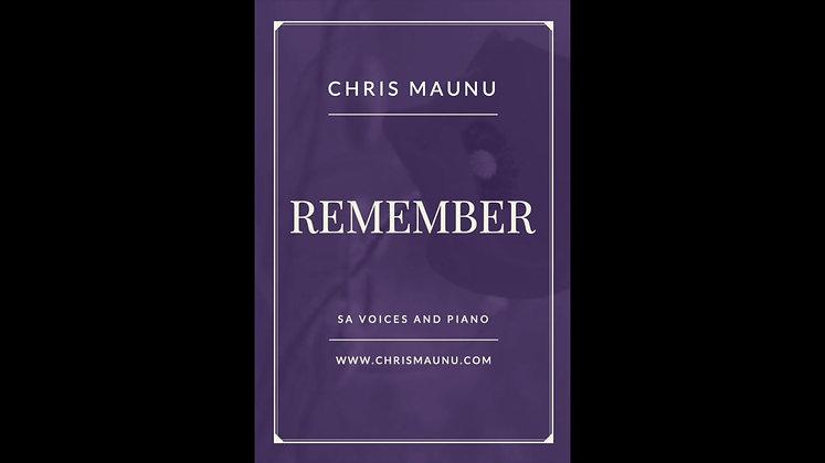 Remember - SA and Piano