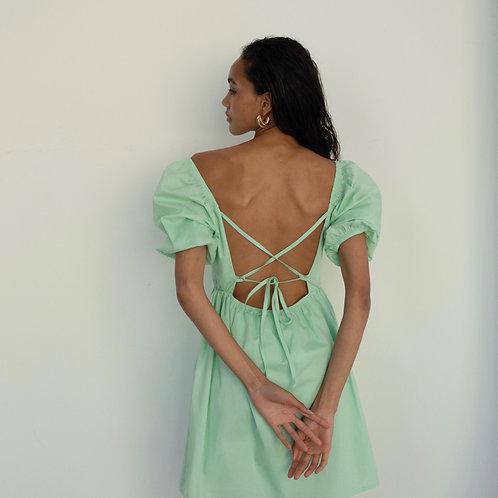Платье из хлопка в цвете перечная мята