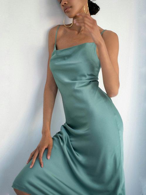 Платье - комбинация цвете ментол