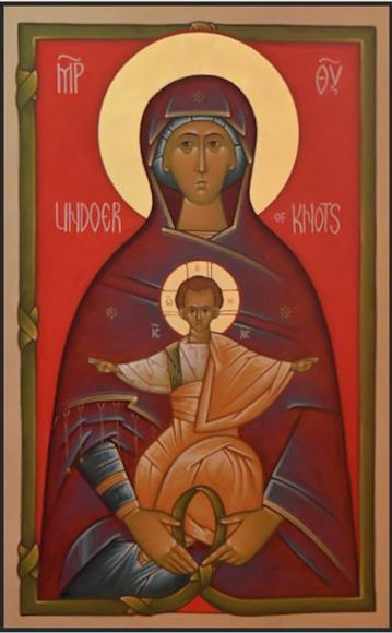 Mary Undoer of Knots Icon by Fr. Peter P