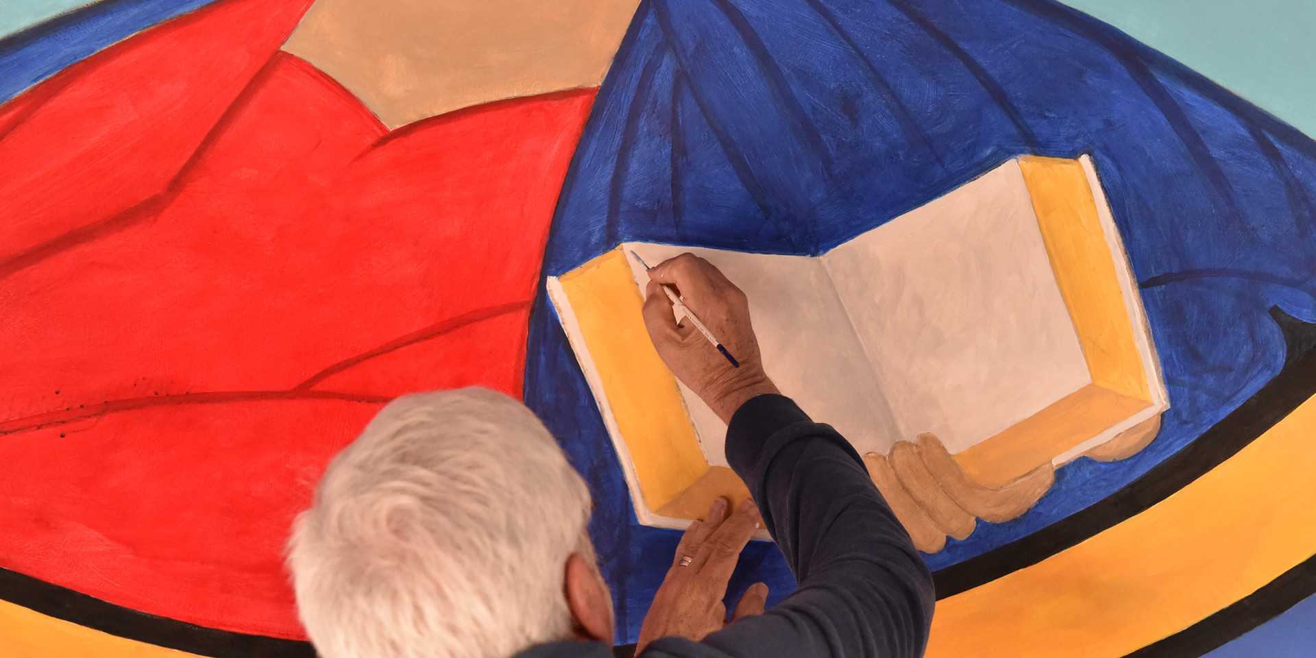 Chuck Painting the Dome