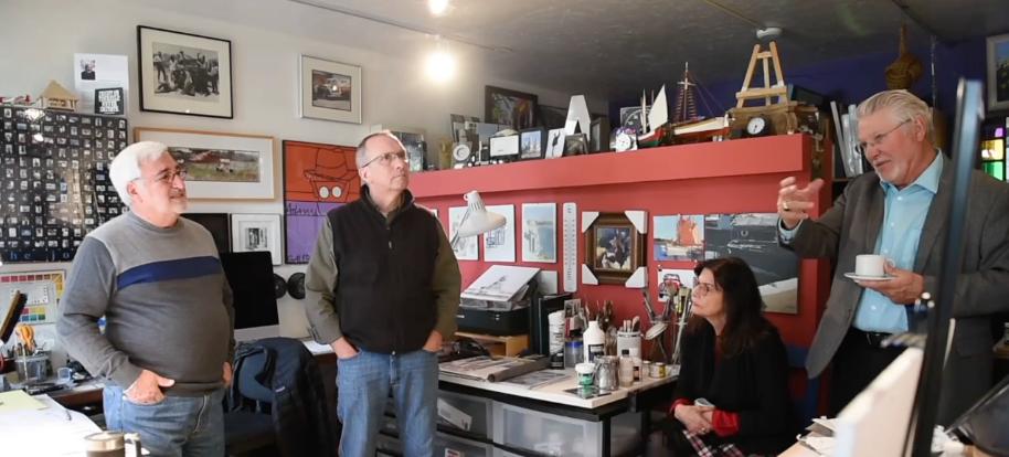 Planning meeting at Chuck's Studio