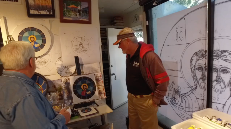 Gene Kinghorn viewing the Scale Dome