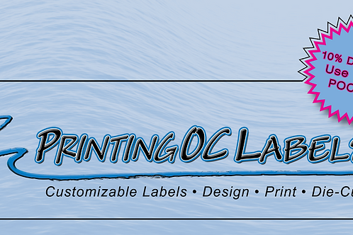 "2"" x 4"" Custom Die-Cut Polypropylene Weather Resistant Labels"