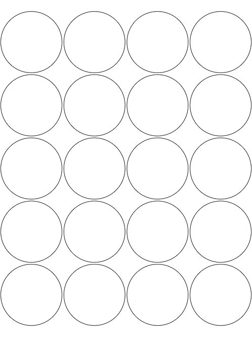 """2"""" Round Glossy Labels"""
