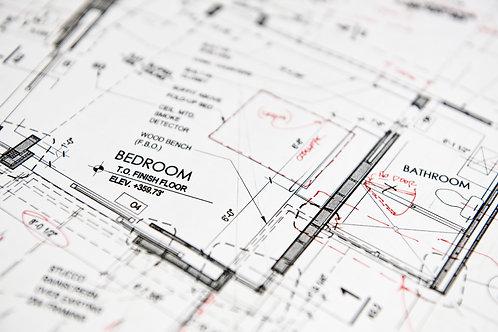 B & W Blueprints w/ Redlines