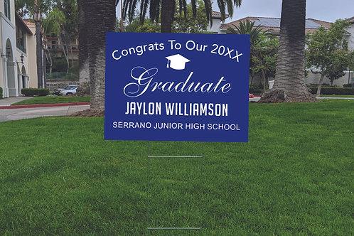 Color Customize Graduation Sign