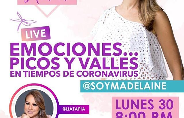 """Emociones...Picos y valles en tiempos de Coronavirus (IG Live desde """"El Arte de amar"""" @soymadeleine)"""