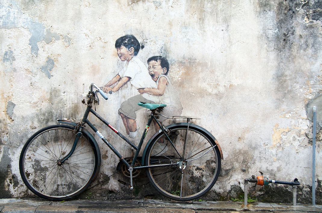 Ernest Zacharevic graffiti. Street art