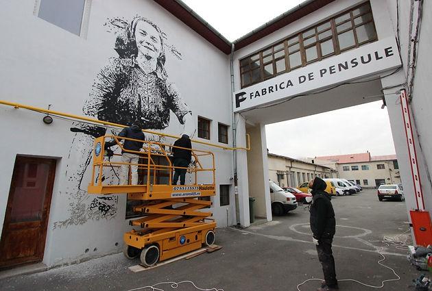 Fabrica de Pensule, Cluj. Graffiti