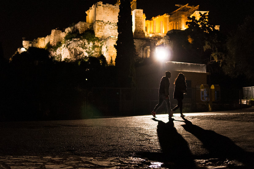 Athens at night. Cultural Heritage