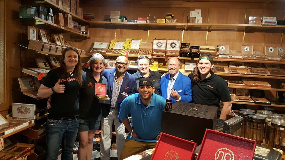 Cigar Box Staff with Nish Patel and Gordon Will of Rocky Patel