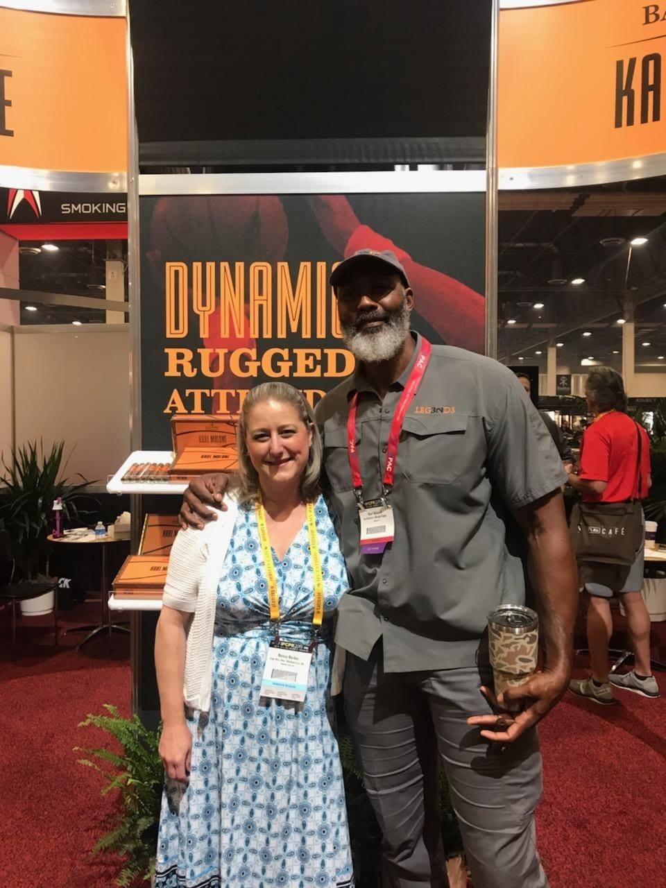 Nancy with Karl Malone