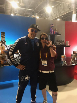 Liz with Fabien