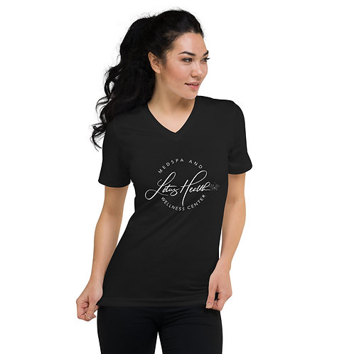 Lotus Health Short Sleeve V-Neck T-Shirt