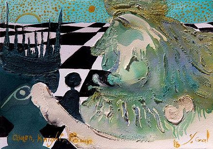 מלכה חייל צריח       - צייר יורם גל  תער