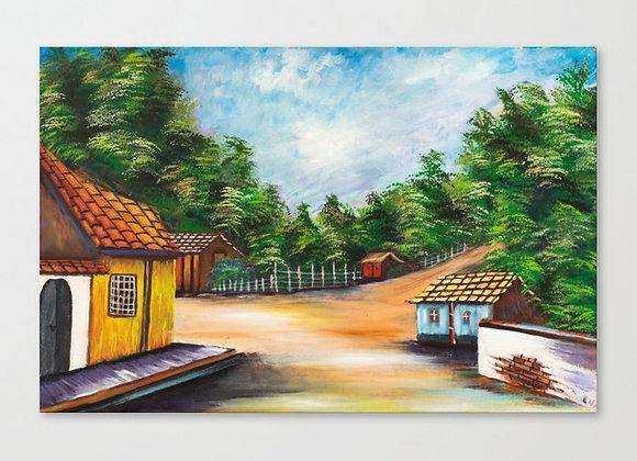 "Country Landscape Canvas 19""x12"""