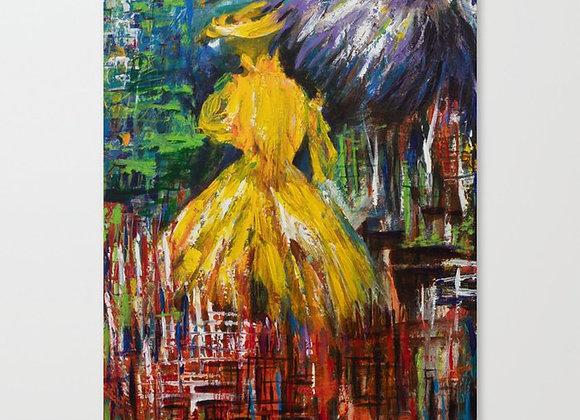 "Camelia Lady Canvas 13""x18"""