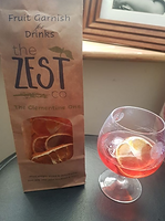 Negroni cocktail with clementine garnish from The Zest Co