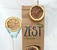 Dehydrated lemon garnish for cocktails by The Zest Co