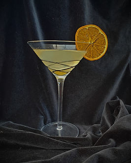 Martini with dried clementine
