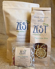Various sizes of dried fruit for gin