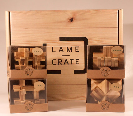 Bamboo Puzzle Crate