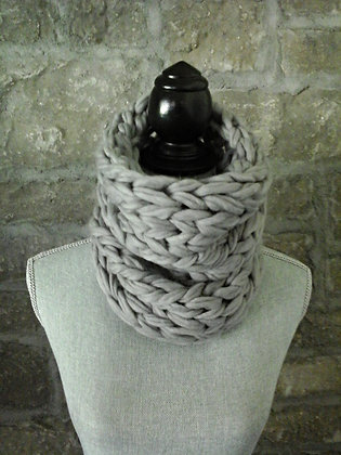 Wooly Cowl in Light Grey