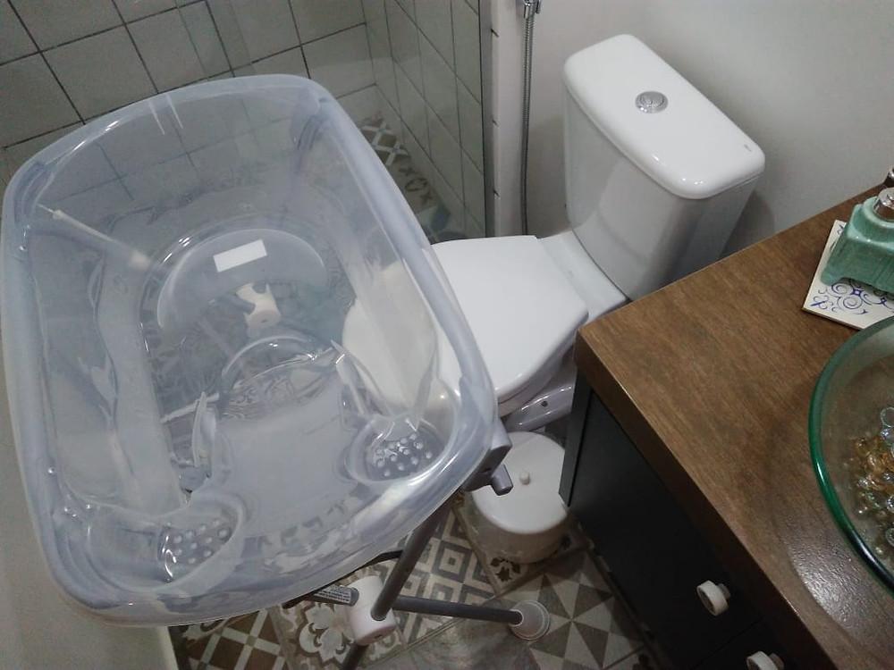 banheira com tripé