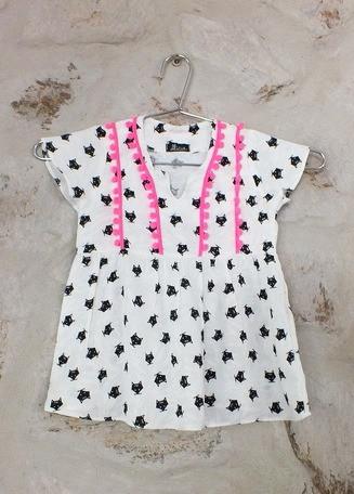vestido infantil Sara Raposas