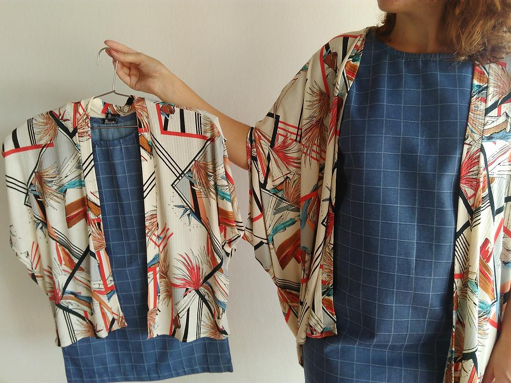 Produção mãe e filha - vestido jeans + blusão