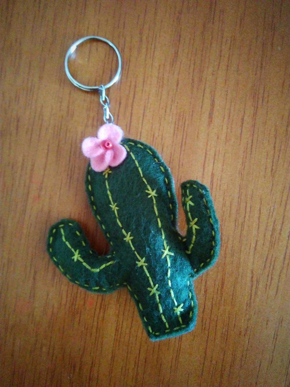 chaveiro de cactus