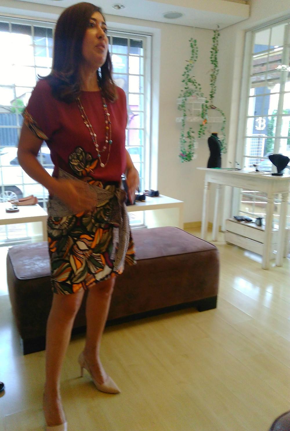 Rosana linda com Vestido Mix&match