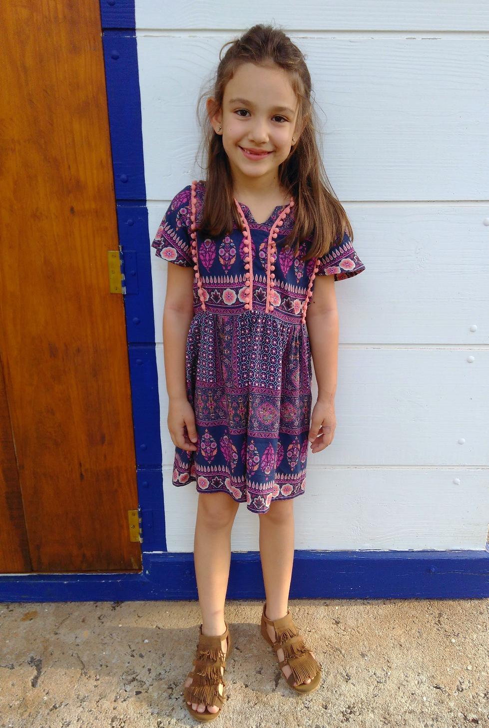 minha afilhada com  vestido Hippie Chic da Alícia