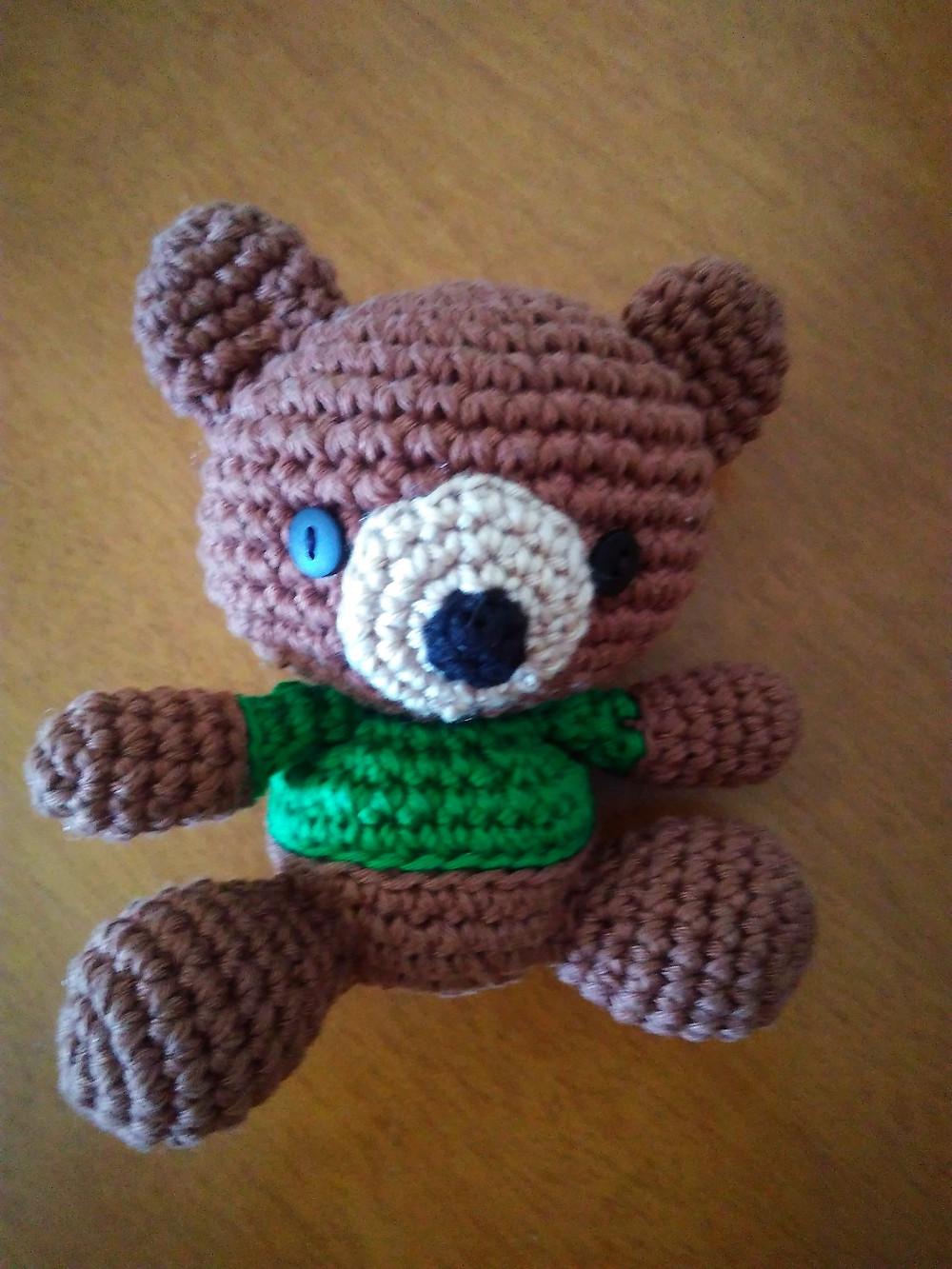 urso de crochet
