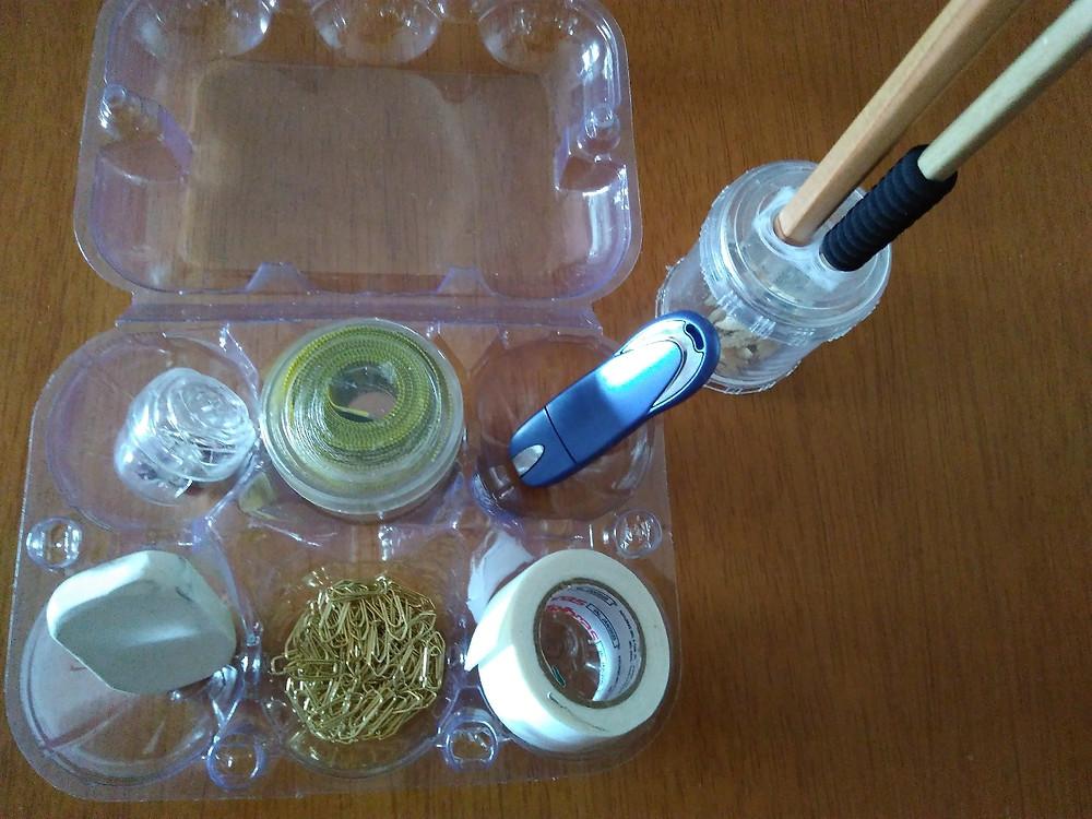 aproveitamento com caixa de ovos - upcycling